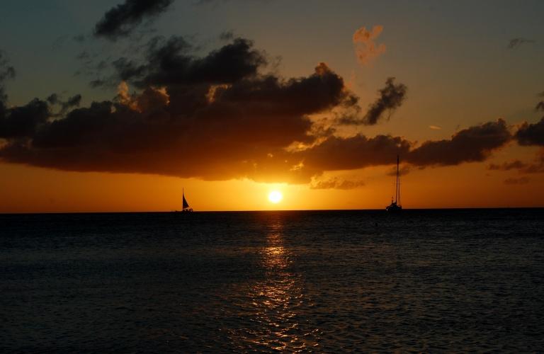 Zonsondergang Aruba