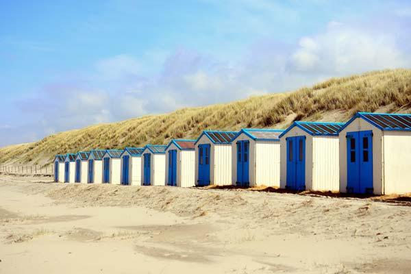 Huisjes aan het strand van Texel